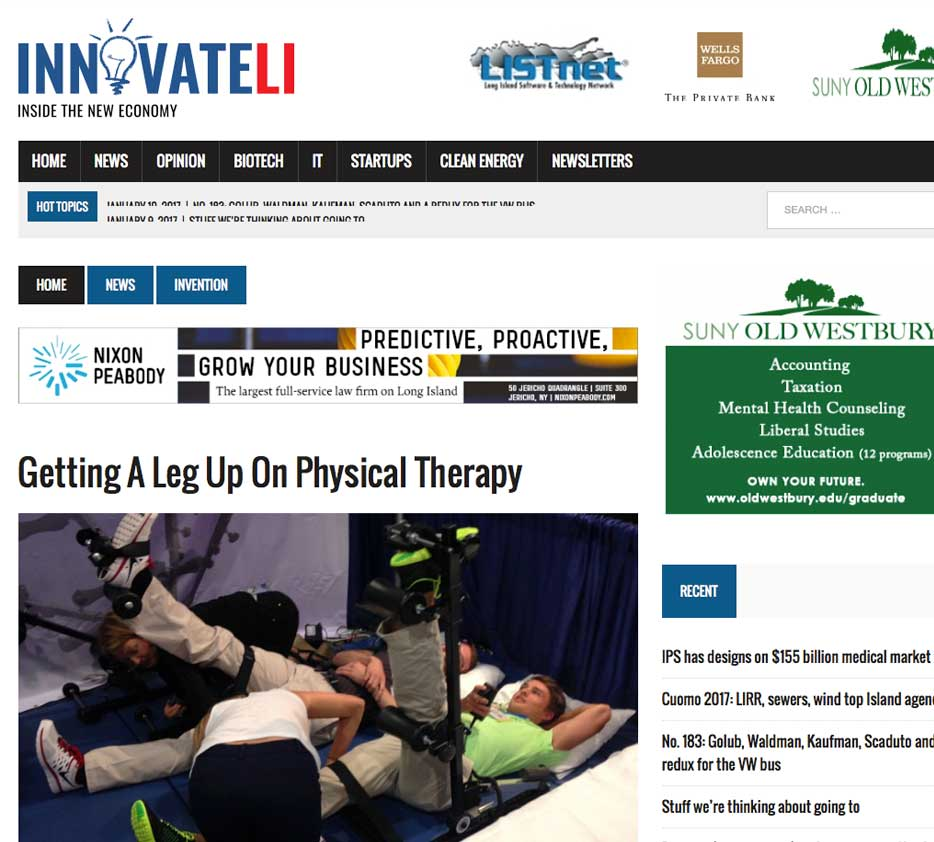 innovateli Getting A Leg Up On Physical Therapy